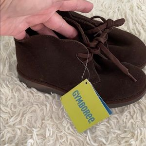 NWT Gymboree Leather Upper Brown Suede Booties